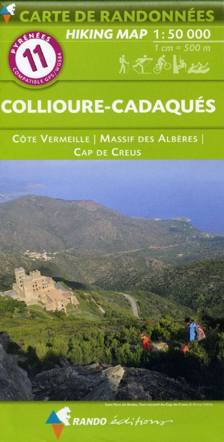 Rando Editions 1:50,000 Walking Map Of the Pyrenees  Number 11 Collioure - Cadaques